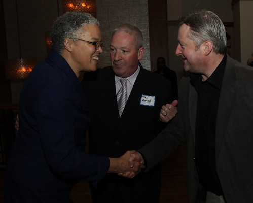 Toni Preckwinkle, Cook County Board President, Cyril Regan, Matt Rogers